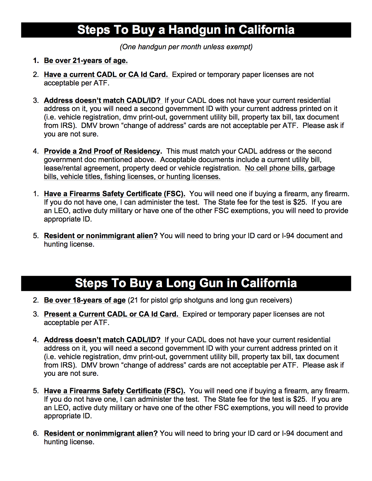 Steps to buy a gun in california 1betcityfo Images